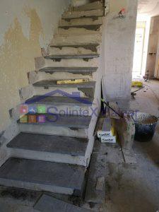 Embaldosado escalera Sa Torre