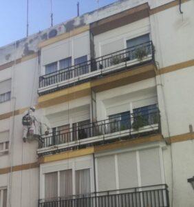 Rehabilitación de fachada edificio mallorca