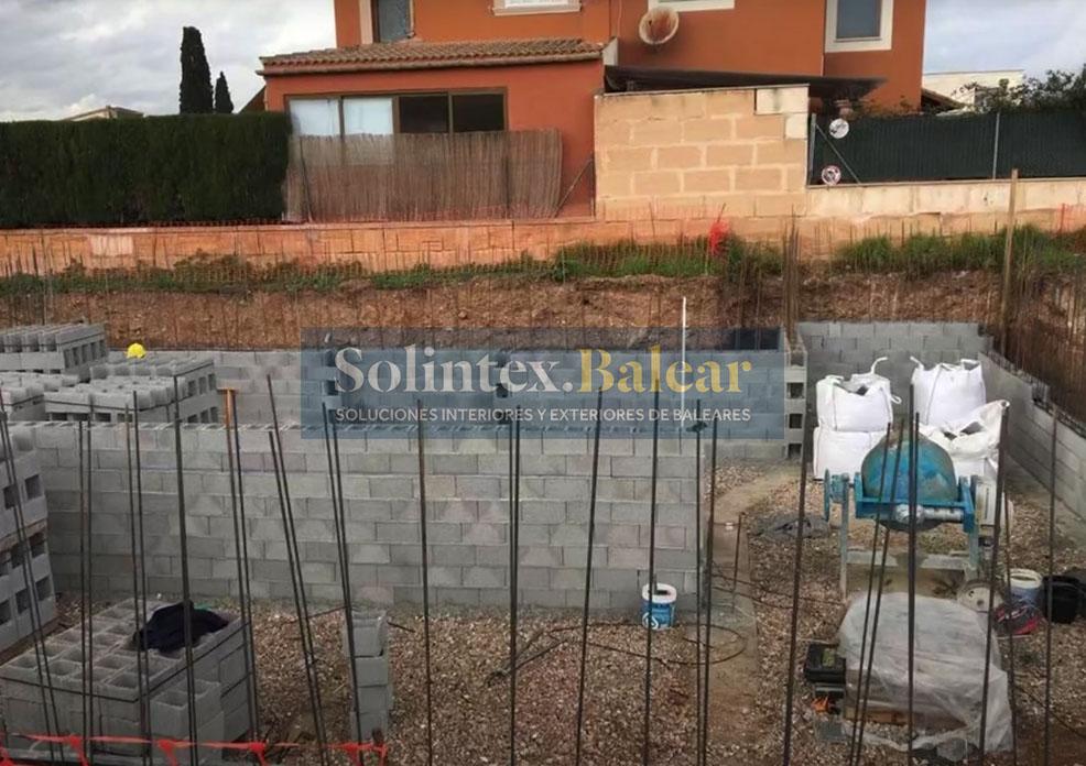 Levantamiento muros Mallorca