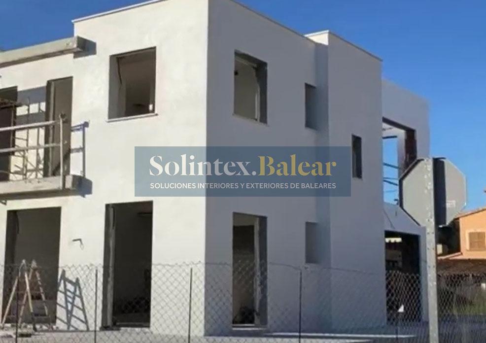 Enlucido de fachada mortero blanco Mallorca