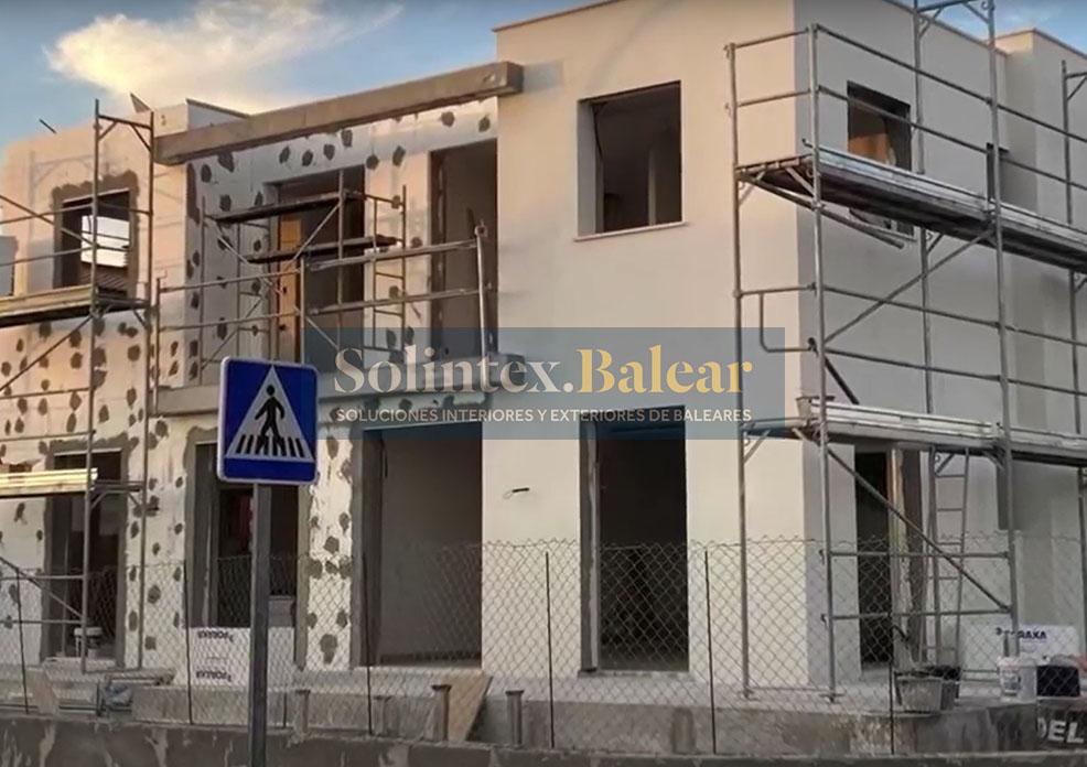 Enlucido fachadas chalet Mallorca