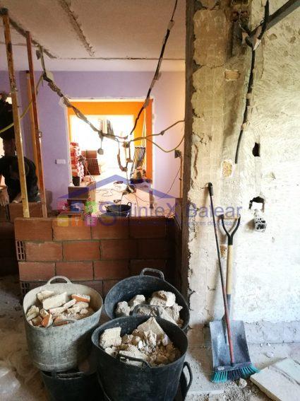 Construcción pared de ladrillo Mallorca
